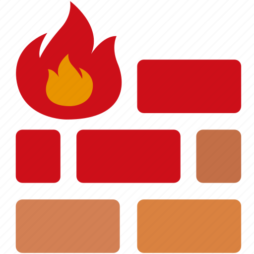fire, firewall, online, protection, safety, security, wall icon
