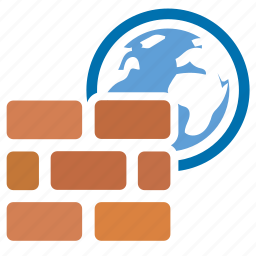 connection, firewall, internet, online, safety, security, wall icon