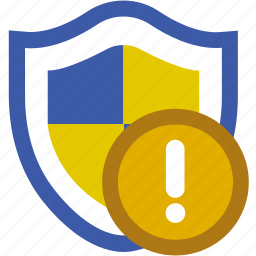 notification, protection, security, shield, update, virus icon
