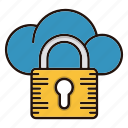 cloud, computing, protection, security icon