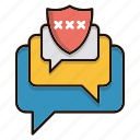 chat, conversation, protection, security icon