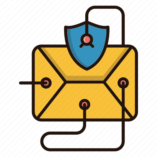 email, protection, security, threat, virus icon