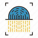 fingerprint, protection, scanner, security icon