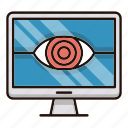 monitoring, protection, search, security, view icon