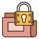 data, folder, protection, secure, security icon