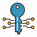 electronic, key, protection, security icon