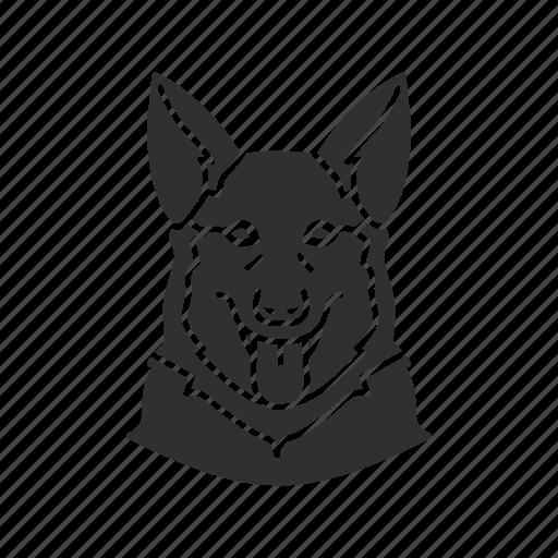 dog, guard dog, k9, security dog icon