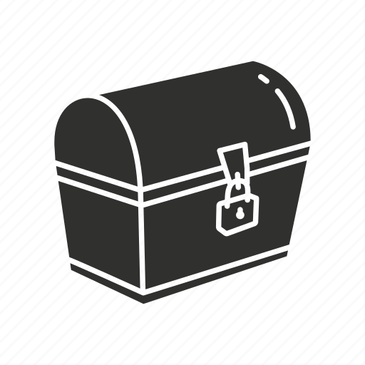 chest, locked chest, secure chest, treasure chest icon