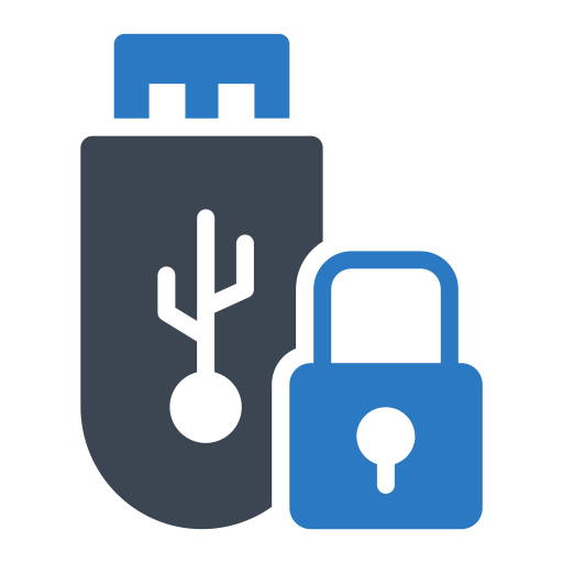 flashdisk, lock, protect, security, shield icon