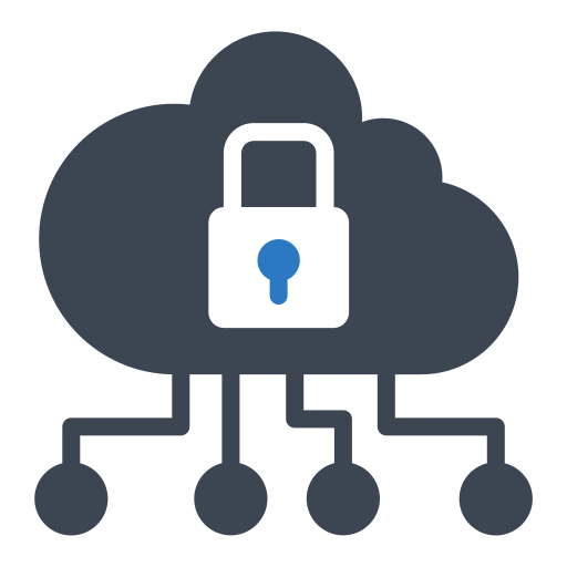 cloud, lock, protect, security, shield icon