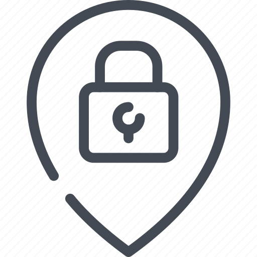 access, ip, location, lock, password, protection, security icon