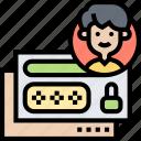 login, user, password, access, verification