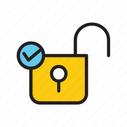 protection, safe, safety, security, unlock icon