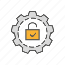 lock, protection, safety, security, setting icon