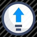 arrow, control, export, upgrade, upload icon