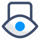 eye, lock, private icon