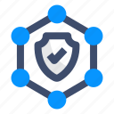 encryption, network security, protect, security, shield icon