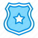 police, sheriff, shield, star