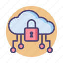 cloud, cloud hosting, cloud network, cloud security, cloud server, secured icon