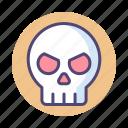 danger, dangerous, dead, death, hazard, punisher, skull icon