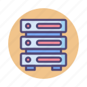 database, hosting, server icon