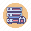 database, database encryption, encrypted, encrypted database, hosting, server icon