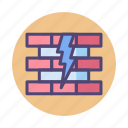 breach, firewall, security icon