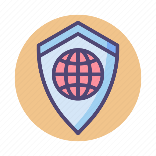 global, safety, secure, security, shield icon