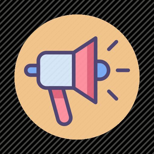 advertising, bullhorn, loudspeaker, marketing, megaphone, promotion icon