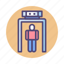 detector, metal, metal detector, xray scanner icon