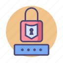 lock, pass, password, pin icon