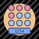 lock, number, password, pattern, pin icon
