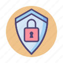 protected, protection, security, shield icon