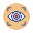 biometric scanner, eye, eye scanner, retina, scan icon