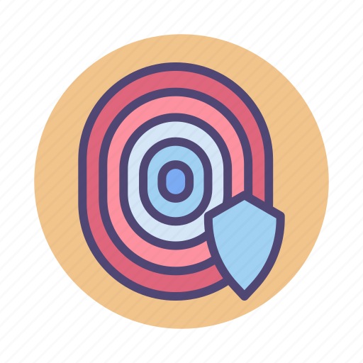 biometric, fingerprint, touch id icon