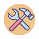 hammer, tools, maintenance, update, wrench