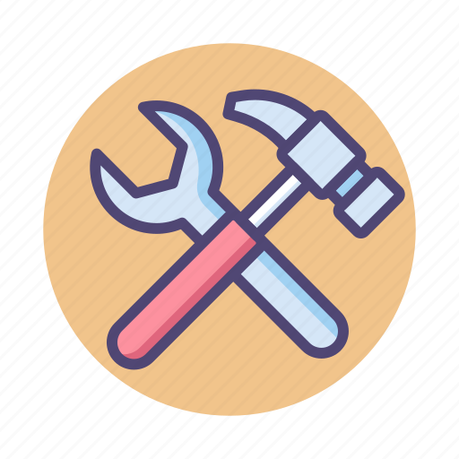 hammer, maintenance, tools, update, wrench icon
