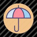 insurance, rain, rainy, umbrella icon