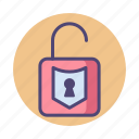 padlock, security, unlock, unlocked icon