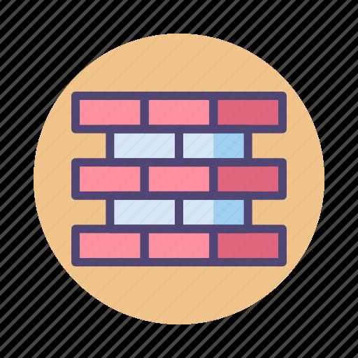 brick, firewall, wall icon