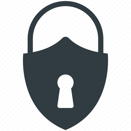 Padlock, password, privacy, security, shield shape icon - Download on Iconfinder