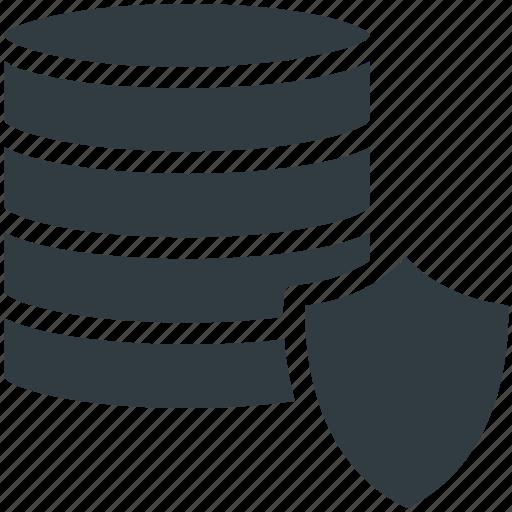 data protection, database, digital storage, lock sign, modern technology icon
