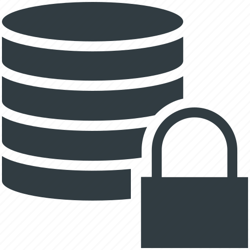 data protection, database, digital storage, modern technology, security shield icon