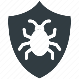 antivirus, antivirus protection, computer virus, internet bug, internet shield icon