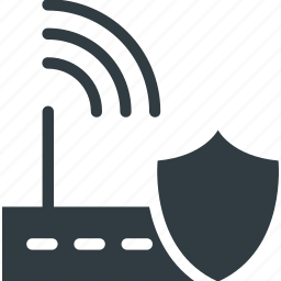 internet security, security shield, wifi password, wifi security, wlan antenna icon