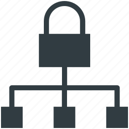 hierarchy structure, lock sign, network, network protection, network security icon