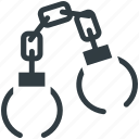 crime, handcuff, manacles, shackles, speedcuffs icon