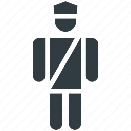 military police, police force, police officer, police uniform, policeman icon
