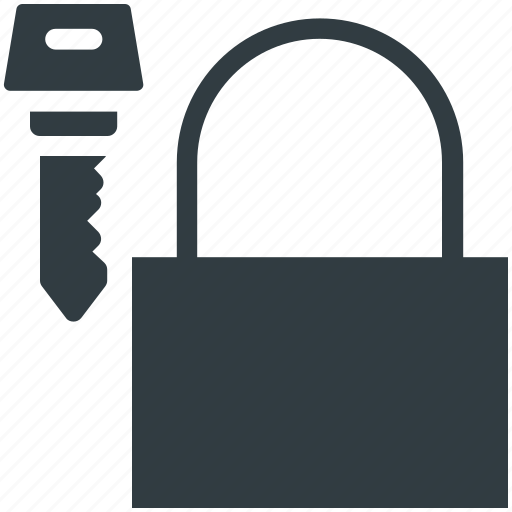 key, padlock, protection, secure, security elements icon
