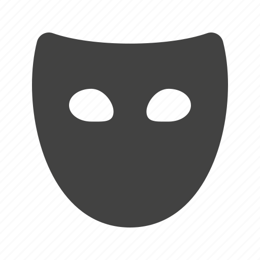 face, mask, secure, security, traditional, tragedy icon